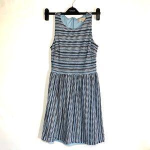 Beautiful blue, white and black Loft dress, xs